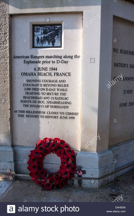 detail-of-d-day-memorial-weymouth-promenade-dorset-D4H9DN.jpg